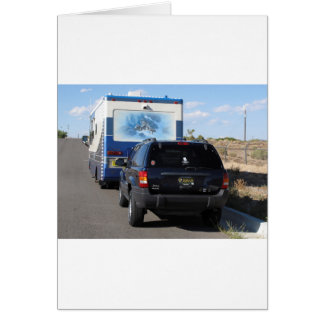 Safari Trek 1999 Blue Classic RV Motorhome Jeep Greeting Card