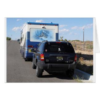 Safari Trek 1999 Blue Classic RV Motorhome Jeep Greeting Card