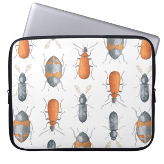 Safari Watercolor Bugs Pattern Laptop Computer Sleeve