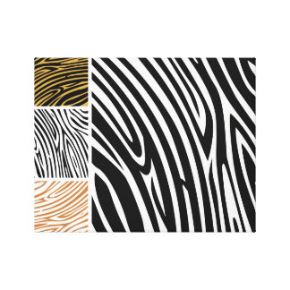 Safari zebra : Authors drawing on canvas Canvas Print