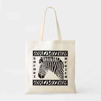 Safari Zebra logo tote bag