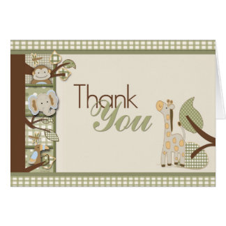 Safarri thank you cards