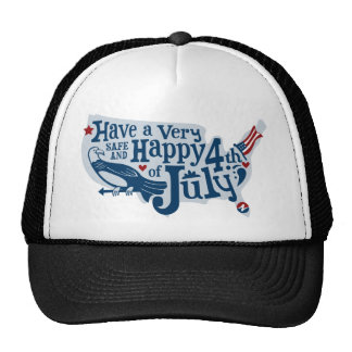 Safe And Happy 4th Of July Cap