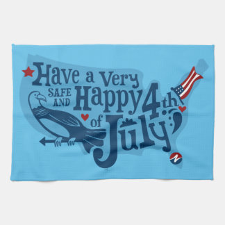 Safe And Happy 4th Of July Hand Towel