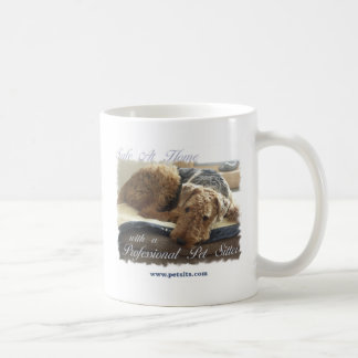 Safe At Home with a Professional Pet Sitter Basic White Mug