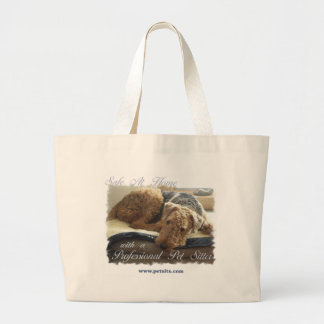 Safe At Home with a Professional Pet Sitter Jumbo Tote Bag