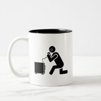 'Safe Cracking' Pictogram Mug