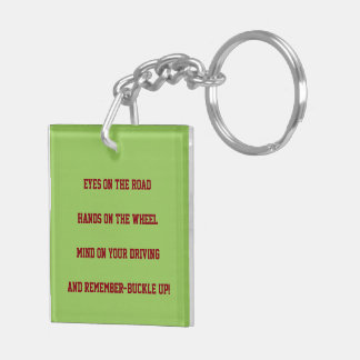 """SAFE DRIVING"" KEYCHAIN (SOME REMINDERS)"