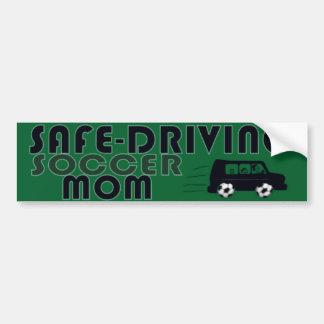 Safe-Driving Soccer Mom Bumper Sticker