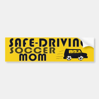 Safe-Driving Soccer Mom Bumper Stickers