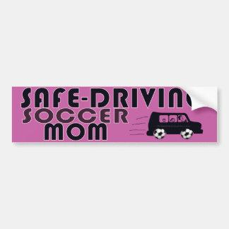 Safe-Driving Soccer Mom Car Bumper Sticker