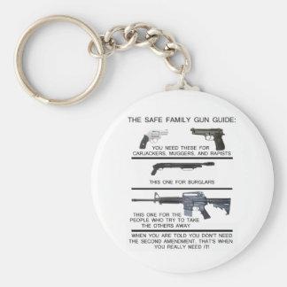 SAFE FAMILY GUN GUIDE BASIC ROUND BUTTON KEY RING
