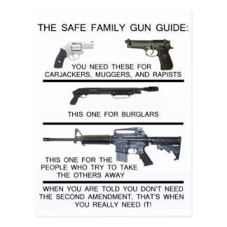 SAFE FAMILY GUN GUIDE POSTCARD