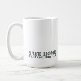 Safe Home. Mug of Squirrel and Gratitude.