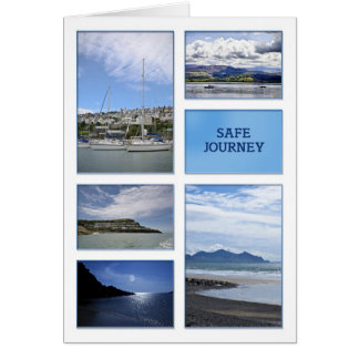 Safe journey card with sea scenes