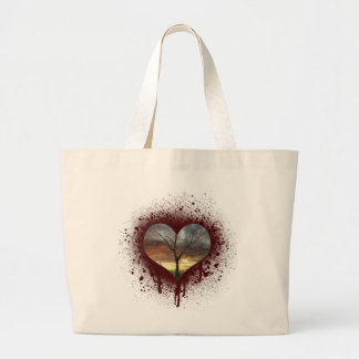 Safe the nature bleeding heart tree of life large tote bag