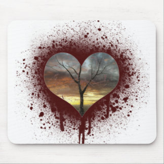 Safe the nature bleeding heart tree of life mouse pad