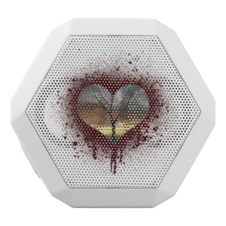 Safe the nature bleeding heart tree of life white bluetooth speaker