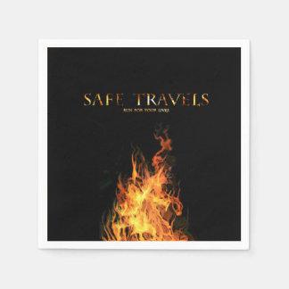 SAFE TRAVELS Cover logo napkins Disposable Serviette