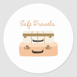 Safe Travels Round Sticker