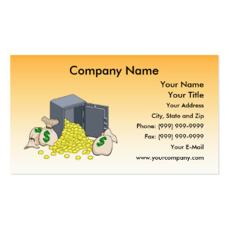 Safe with Golden Coins Business Cards