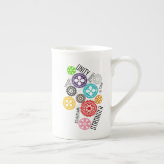 Safe With Me Cogs Bone China Mug