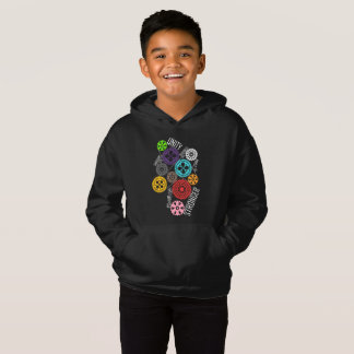 Safe With Me Cogs Boy's Dark Hoodie