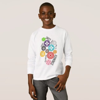 Safe With Me Cogs Boy's Long Sleeve T-Shirt