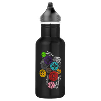 Safe With Me Cogs Dark Water Bottle