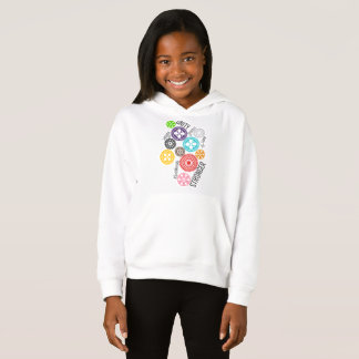 Safe With Me Cogs Girl's Hoodie