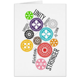Safe With Me Cogs Greeting Card