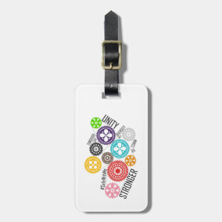 Safe With Me Cogs Luggage Tag