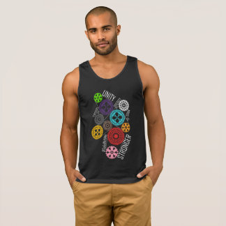 Safe With Me Cogs Men's Dark Tank Top