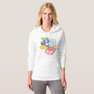 Safe With Me Cogs Women's Fleece Pullover Hoodie