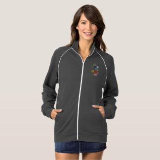 Safe With Me Cogs Women's Fleece Track Jacket
