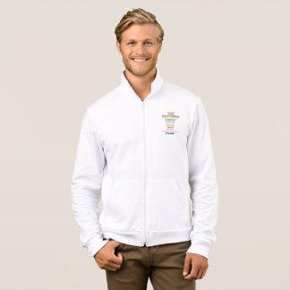 Safe With Me Cross Men's Fleece Zip Jogger Jacket