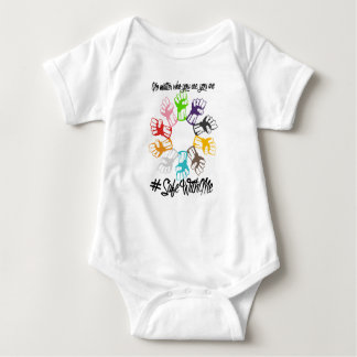 Safe With Me Fists Baby Bodysuit