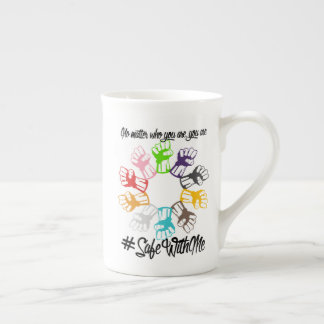 Safe With Me Fists Bone China Mug