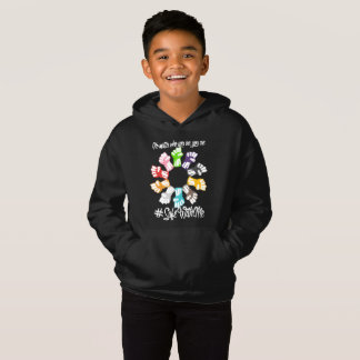 Safe With Me Fists Boy's Dark Hoodie