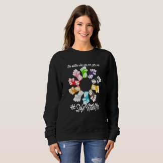 Safe With Me Fists Dark Women's Basic Sweatshirt
