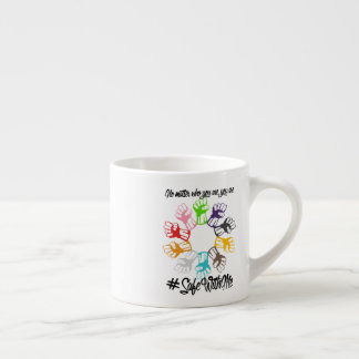 Safe With Me Fists Espresso Mug