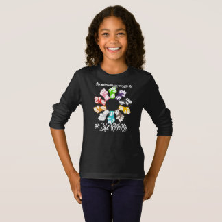 Safe With Me Fists Girl's Dark Long Sleeve T-Shirt