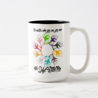 Safe With Me Fists Large Mug