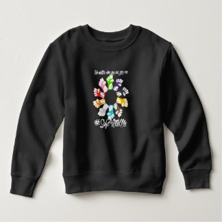 Safe With Me Fists Toddler Dark Sweatshirt