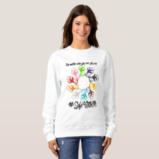 Safe With Me Fists Women's Basic Sweatshirt