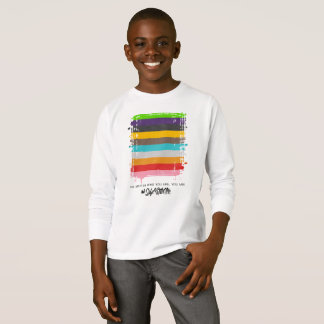 Safe With Me Flag Boy's Long Sleeve T-Shirt