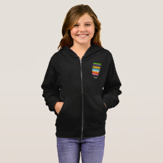 Safe With Me Flag Girl's Zip Hoodie