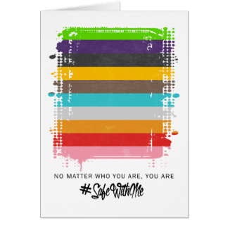 Safe With Me Flag Greeting Card