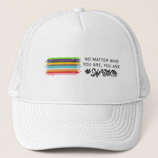 Safe With Me Flag Trucker Hat