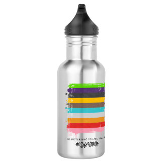 Safe With Me Flag Water Bottle 532 Ml Water Bottle